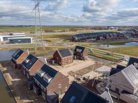 Luchtfoto nieuwbouw De Eilanden Baanhoek-West