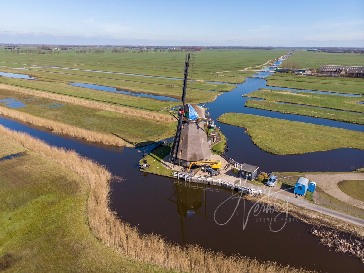 Luchtfoto Goudriaanse molen
