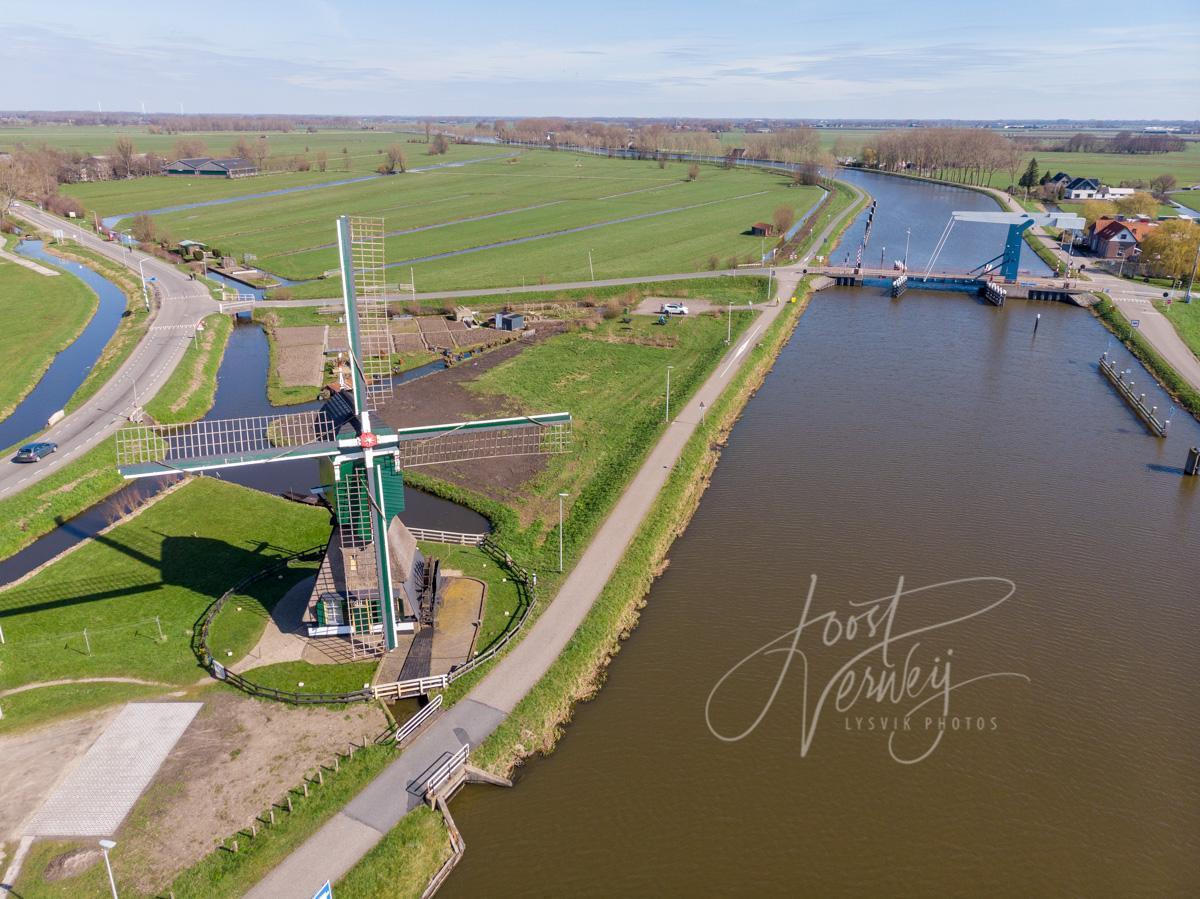Luchtfoto de Bonkmolen