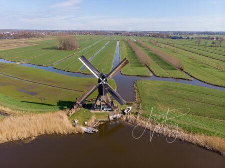 Luchtfoto Oudendijkse molen