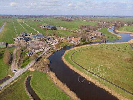 Luchtfoto riviertje de Lage Giessen