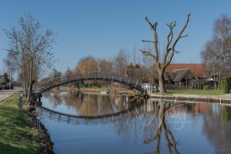 Bruggetje over riviertje de Graafstroom