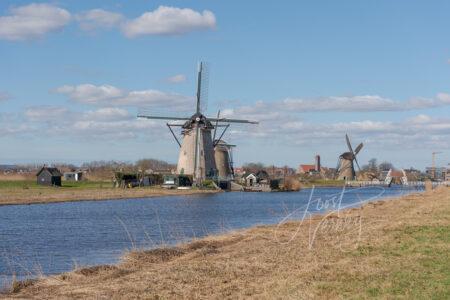 Molens Nederwaard no 1, 2 en 3 in Kinderdijk