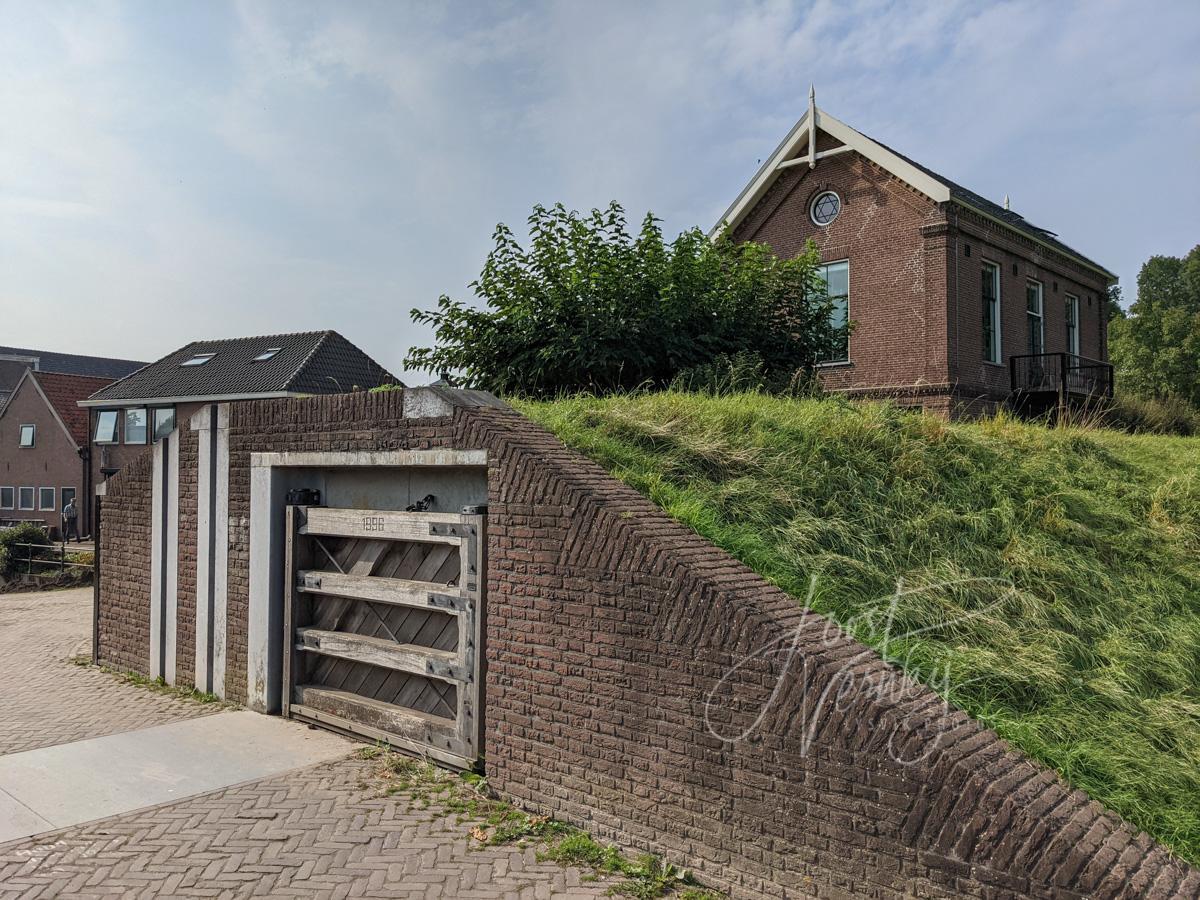 Coupure in de stadswal in Nieuwpoort