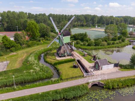 Luchtfoto Westmolen in Gorinchem