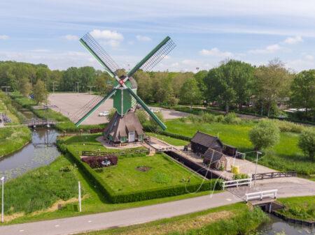 Luchtfoto Oostmolen in Gorinchem